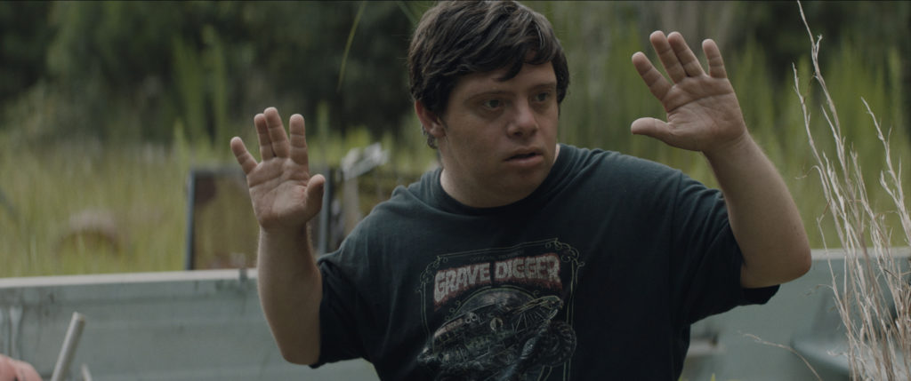 Zak, spilt av Zack Gottsagen, i filmen The Peanut Butter Falcon