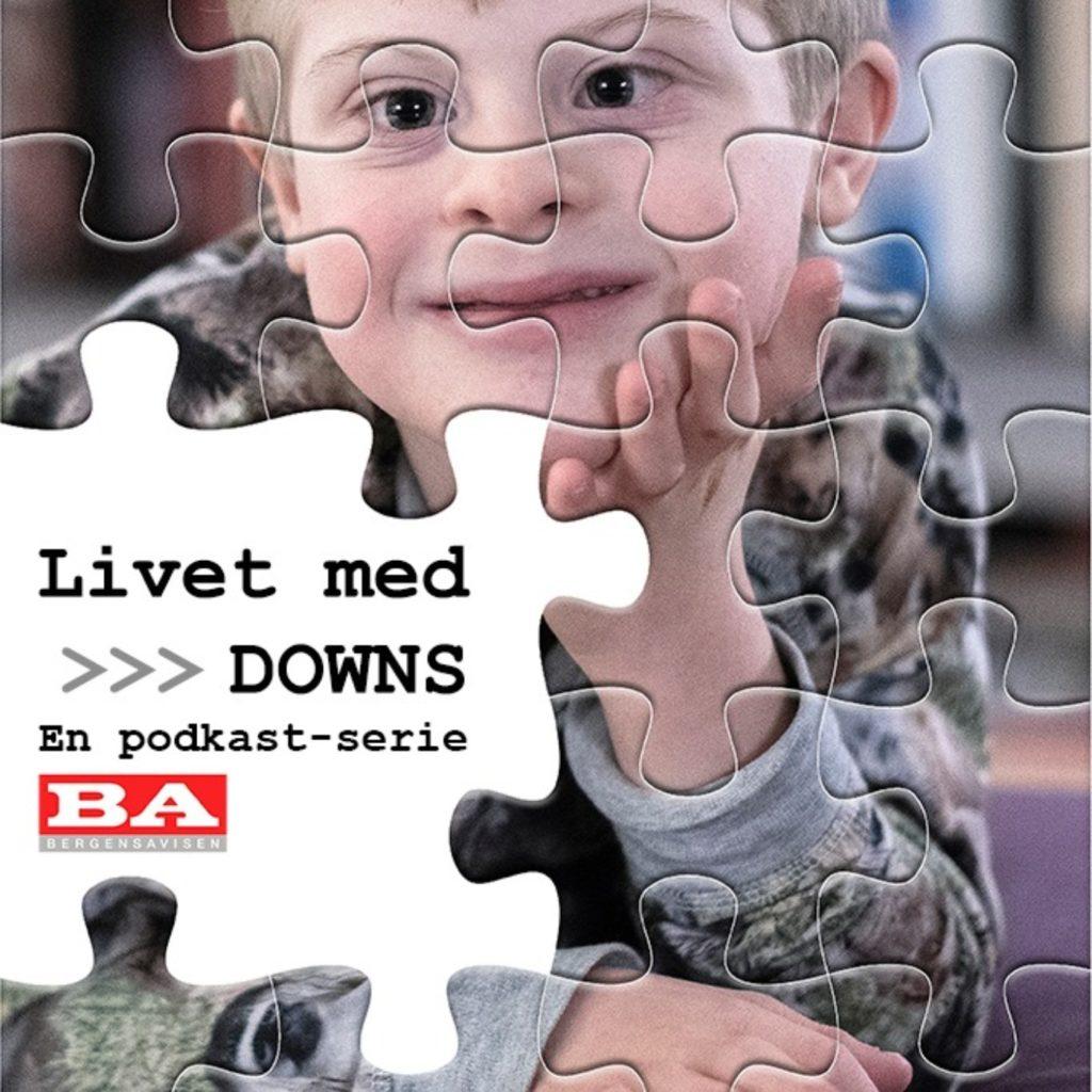 """BPusliespillbildet av gutt med Downs. Illustrasjon av podkasten l""""ivet med downs"""""""