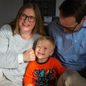 Randi Ødegaard med familie