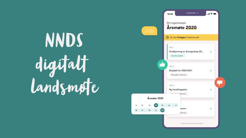 Bilde av app med digitalt årsmøte