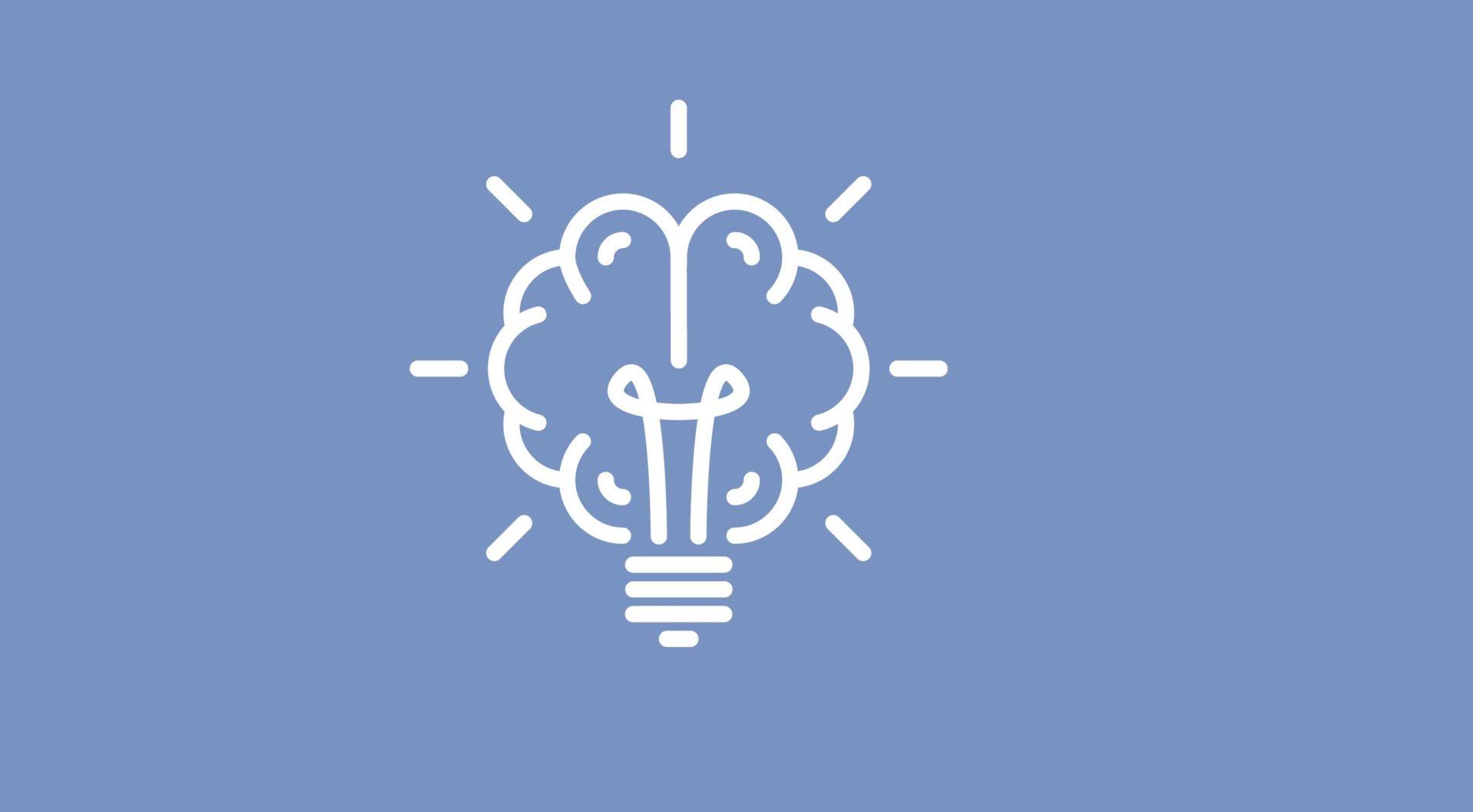 Illsutrasjon av en lyspære/hjerne