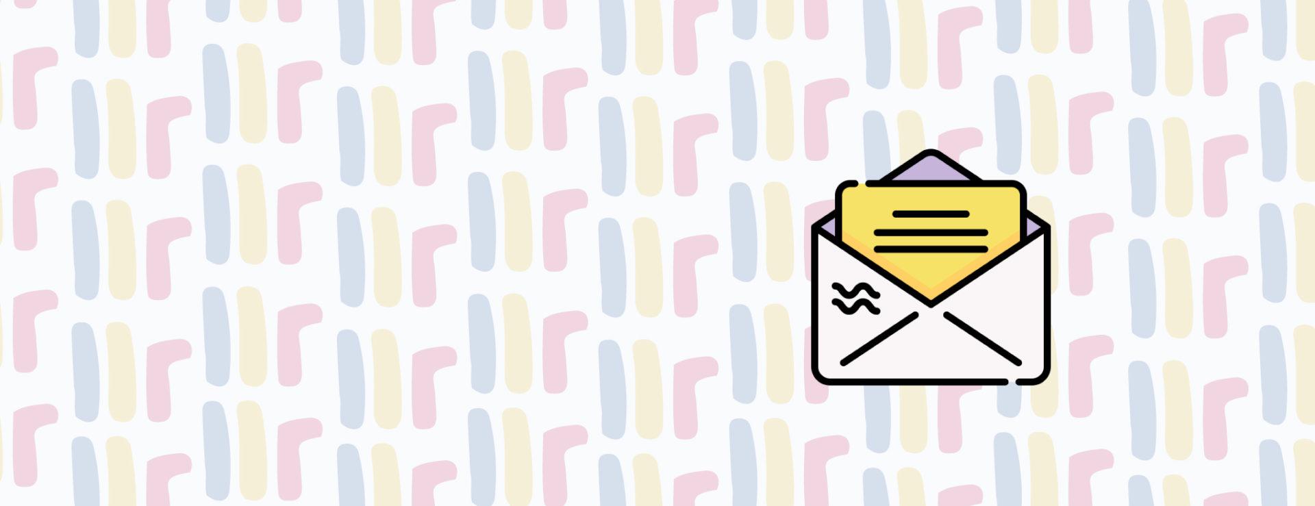 illustrasjon av grafisk bakgrunn med brev over